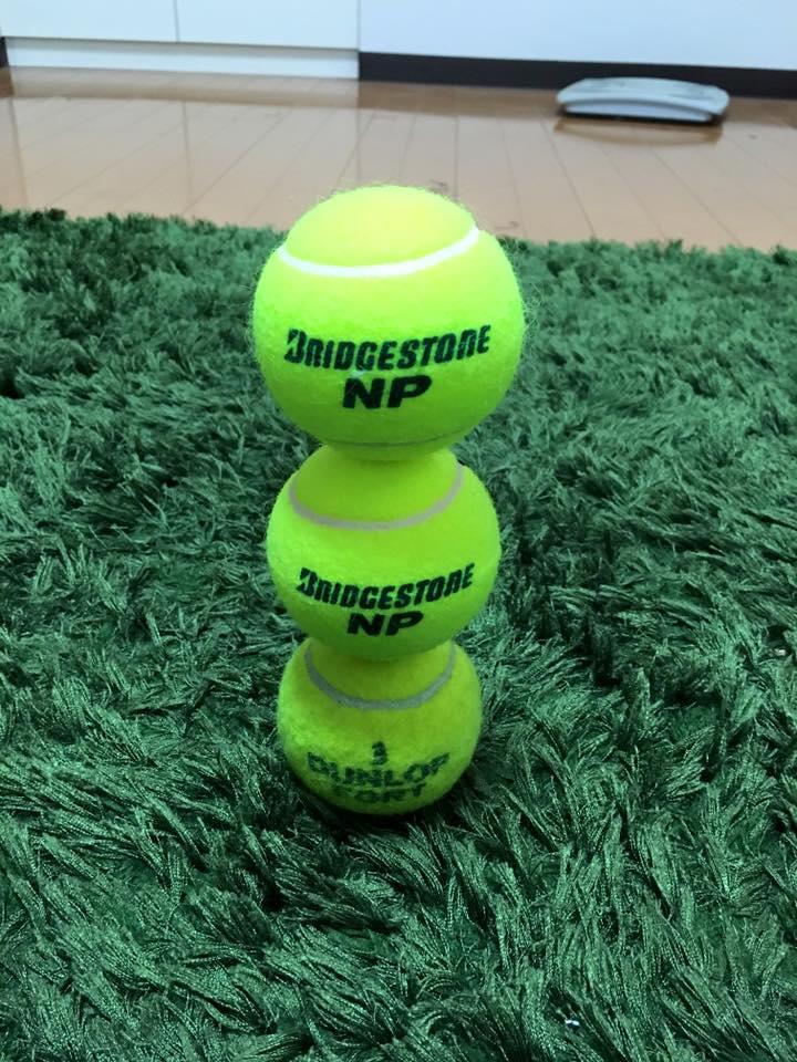 テニスボール3個積み 集中力 阿部メソッド