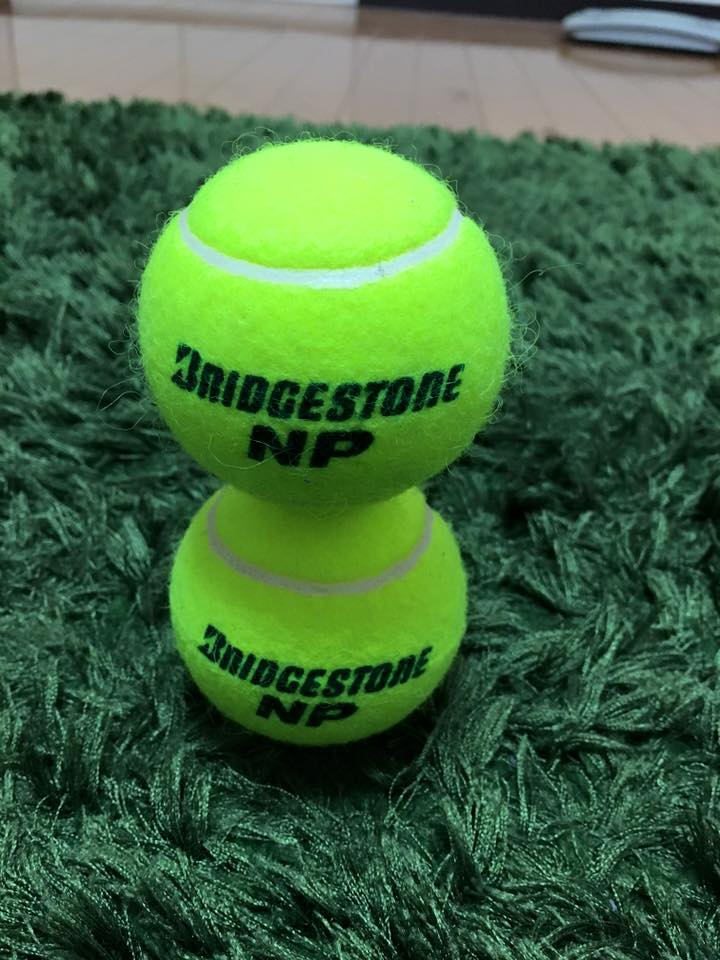 テニスボール2個積み 集中力 阿部メソッド