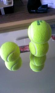 テニスボール4個積み  テニスボール積み 集中力講座 阿部洋太郎