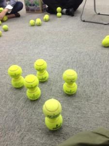 群れ テニスボール積み 集中力講座 阿部洋太郎