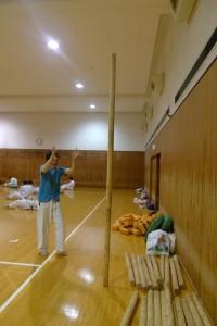 木の棒  テニスボール積み 集中力講座 阿部洋太郎