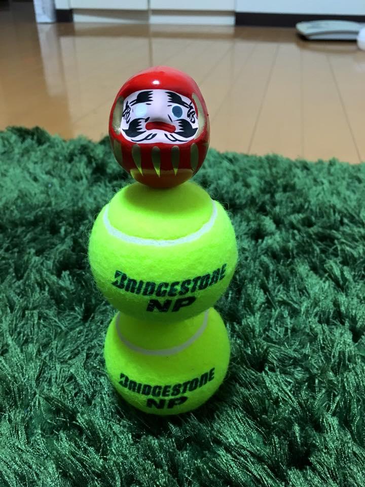 集中力講座 トレーナー 阿部洋太郎 積む テニスボール積み
