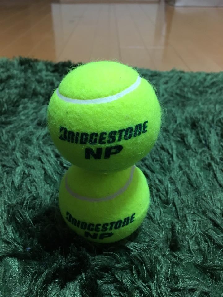 テニスボール2個積み 集中力 講座 セミナー