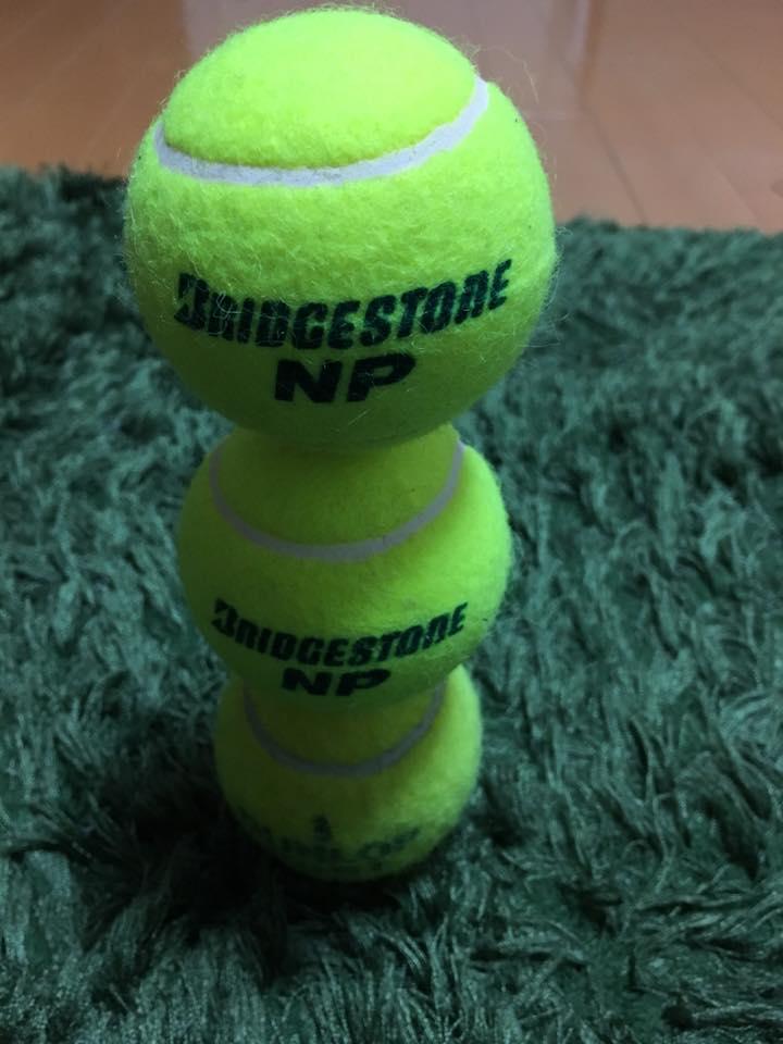 テニスボール3個積み 集中力講座 セミナー