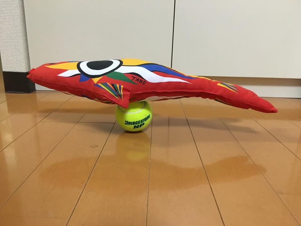 テニスボール2個積み 集中力