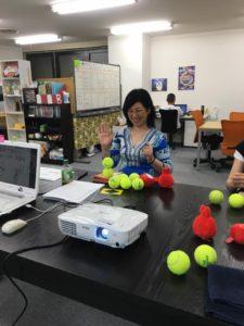 手帳コラボ4 集中力講座 テニスボール積み 大阪