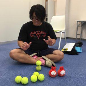 テニスボール2個積み 集中力講座